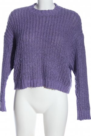 BSK by Bershka Knitted Sweater lilac cable stitch casual look