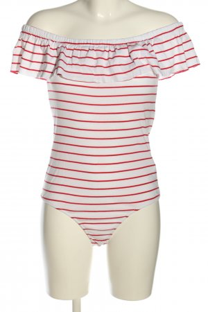 BSL Shirt Body white-red striped pattern casual look