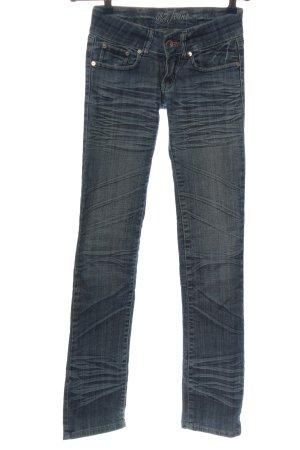 BT Jeans Straight-Leg Jeans blau Casual-Look