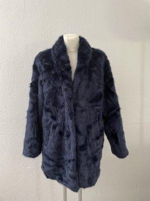 Bubbleboom Fake Fur dunkelblau Teddycoat Mantel gr 42