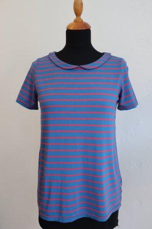 Bubi Kragen T-Shirt gestreift Viskose Jersey Blau Rot