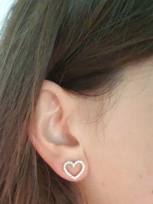 Bucherer Boucles d'oreille en or blanc-doré