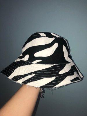 Kapelusz przeciwsłoneczny biały-czarny