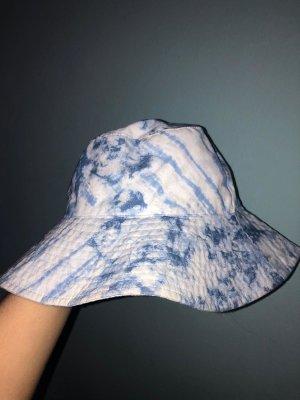 Kapelusz przeciwsłoneczny biały-jasnoniebieski