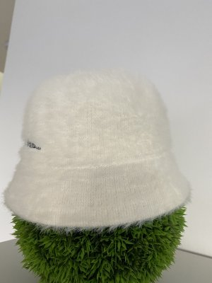 Cloche Hat natural white mohair