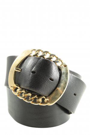 Buckles & Belts Cintura di pelle nero stile casual