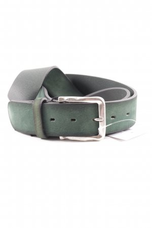 Buckles & Belts Ceinture en cuir vert forêt style classique