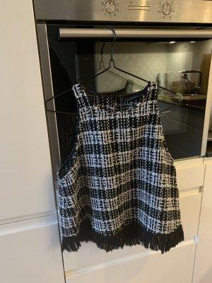 Zara Woman Top línea A negro-blanco