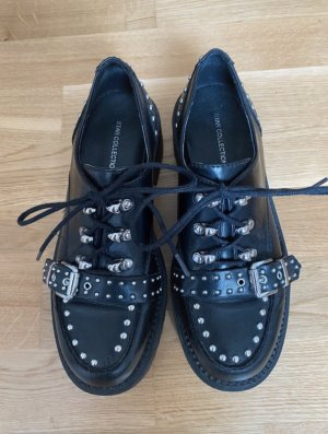 Graceland Zapatos Budapest negro-color plata