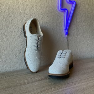 Blue Motion Wingtip Shoes multicolored
