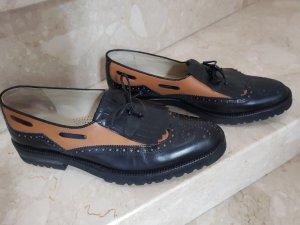 Zapatos Budapest negro-ocre