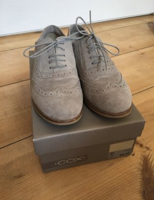 Cox Lace Shoes light grey leather