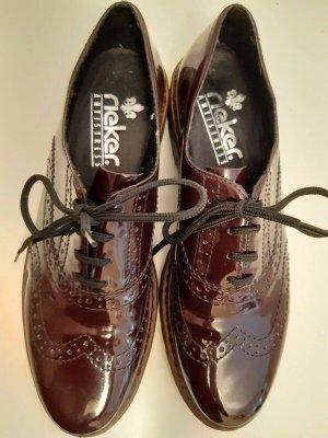 Rieker Zapatos brogue burdeos tejido mezclado