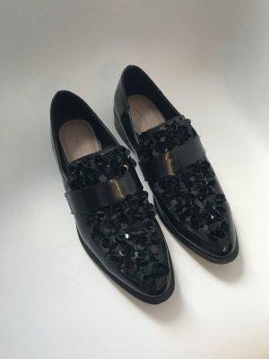 Zara Wingtip Shoes black