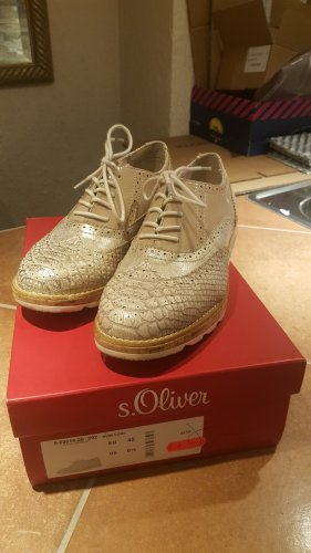 s.Oliver Wingtip Shoes multicolored