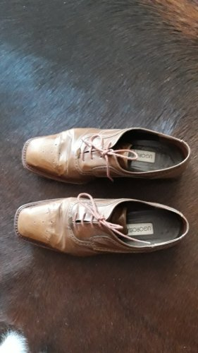 Lace Shoes light brown leather