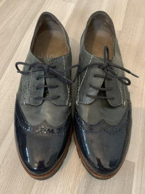 Jana Wingtip Shoes grey-black
