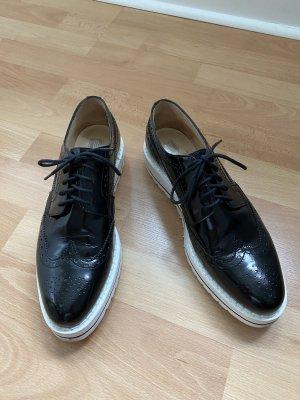 GKM Zapatos brogue negro-blanco
