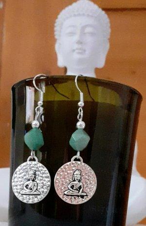 Impressionen Pendientes colgante color plata-verde