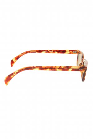 Buddy Angular Shaped Sunglasses brown-primrose abstract pattern casual look