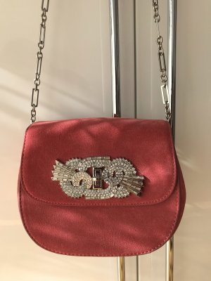 Bügeltasche/Clutch in Rosé Velours Optik