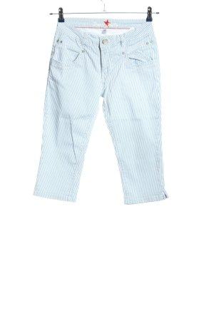 Buena Vista 3/4-Hose weiß-blau Streifenmuster Casual-Look