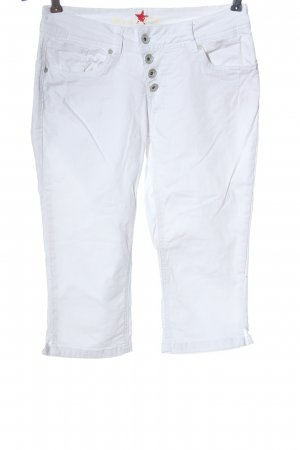 Buena Vista 3/4-jeans wit casual uitstraling