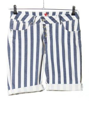 Buena Vista Shorts blau-weiß Streifenmuster Casual-Look