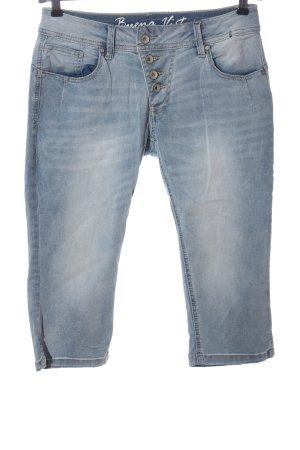 Buena Vista 3/4-jeans blauw casual uitstraling