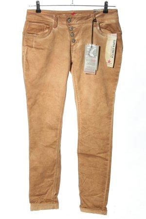 Buena Vista Pantalone cinque tasche color carne puntinato stile casual