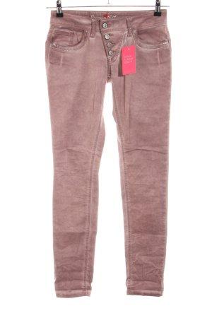 Buena Vista Pantalon cinq poches rose style décontracté