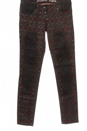 Buena Vista Hoge taille jeans rood-zwart volledige print casual uitstraling