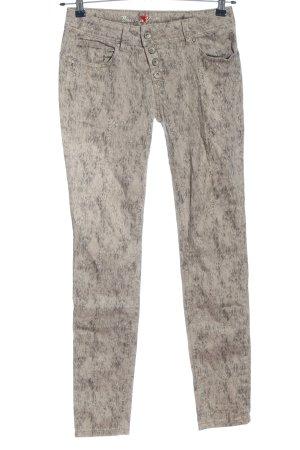 Buena Vista High Waist Jeans natural white-light grey allover print casual look