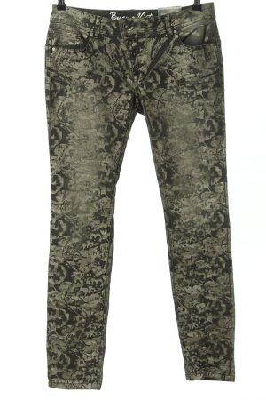Buena Vista Hüfthose khaki abstraktes Muster Casual-Look