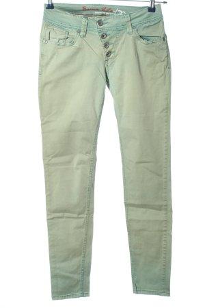 Buena Vista Lage taille broek groen casual uitstraling