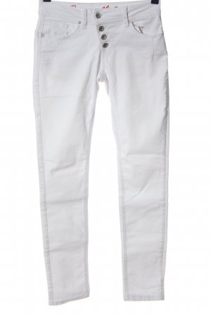 Buena Vista Low-Rise Trousers white casual look