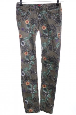 Buena Vista Low-Rise Trousers flower pattern casual look