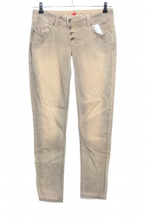 Buena Vista Low-Rise Trousers cream-light grey color gradient casual look