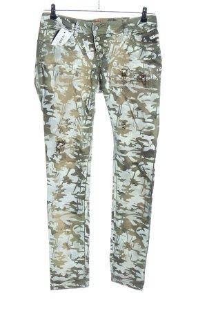 Buena Vista Hüfthose khaki-türkis Camouflagemuster Casual-Look
