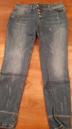 Buena Vista 7/8 Length Jeans dark blue cotton