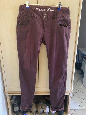 Buena Vista Jeansy rurki purpurowy