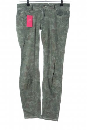 Buena Vista Jeggings khaki Blumenmuster Casual-Look
