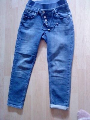 Buena Vista Tube Jeans multicolored cotton