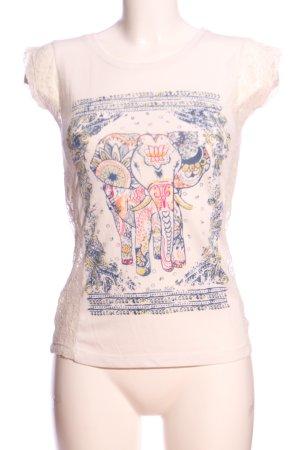 Buena Vista Short Sleeved Blouse themed print casual look