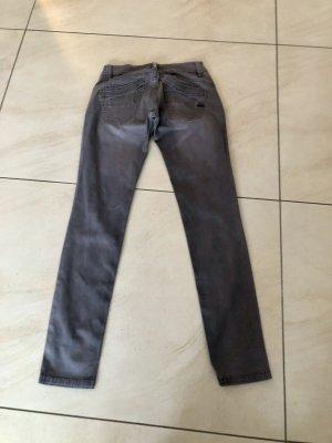 Buena Vista Pantalon cinq poches gris tissu mixte