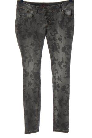 Buena Vista Drainpipe Trousers black-light grey allover print casual look
