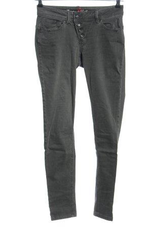 Buena Vista Drainpipe Trousers black casual look