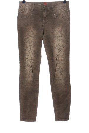 Buena Vista Röhrenhose bronzefarben-wollweiß Allover-Druck Casual-Look
