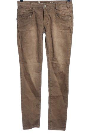 Buena Vista Drainpipe Trousers brown themed print casual look
