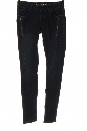 Buena Vista Tube jeans zwart casual uitstraling